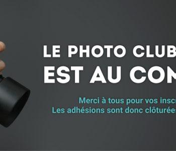 Clôture des adhésions du photo club de Lille